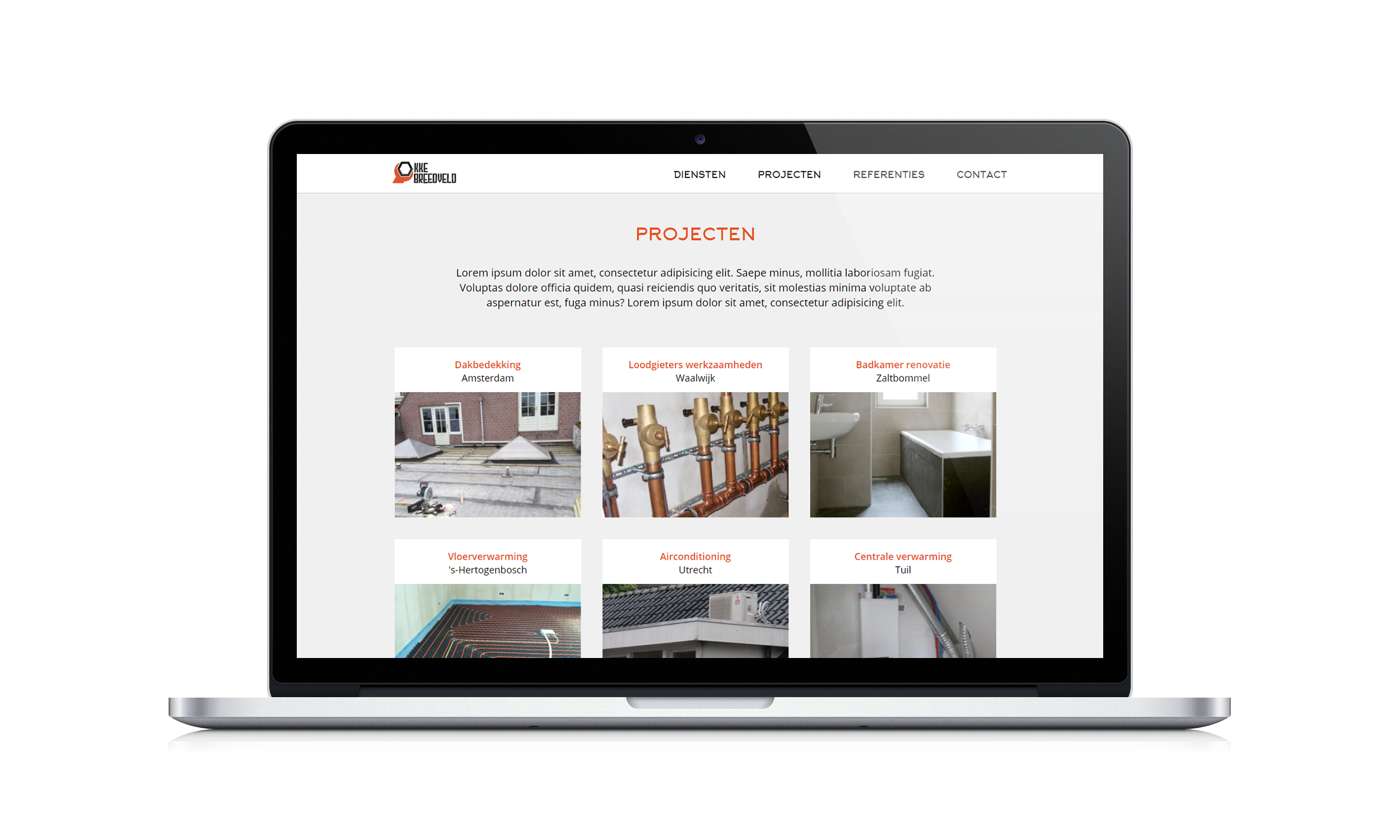 Mockup website Okke Breedveld